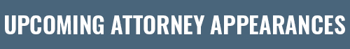 Attorney Appearances